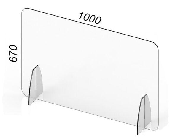 Barriera in Plexiglass anti covidi19